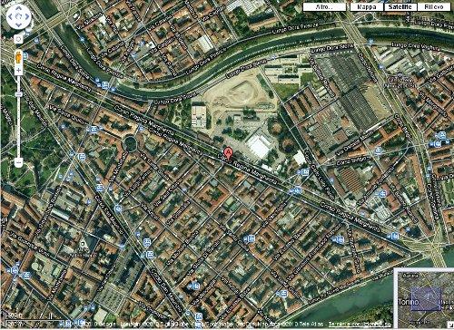 mappa tratta da google per localizzare il centro sociale